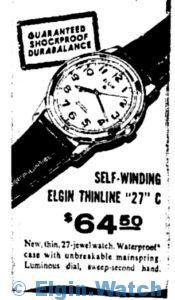 """Elgin Thinline """"27"""" C 1959"""