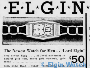 "The newest watch for men... ""Lord Elgin"""